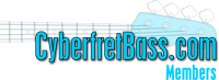 CyberfretBass.com Members Logo